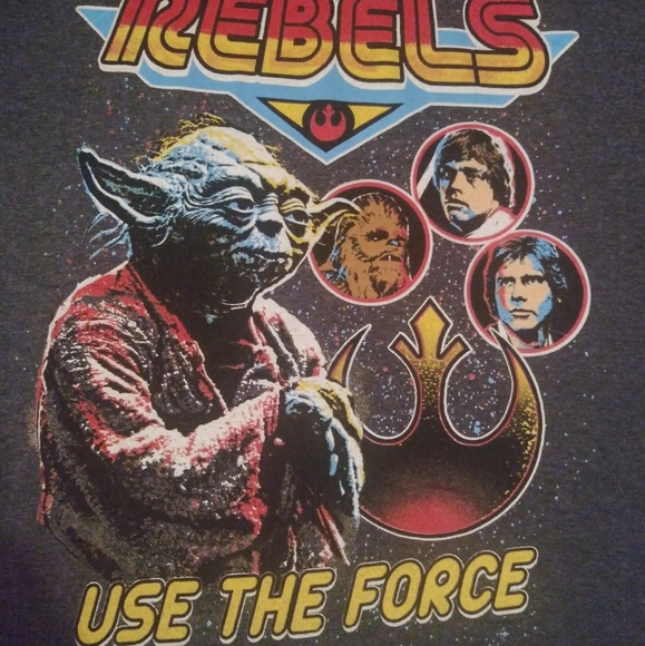 Rebels: Use The Force Grey Mens XL Tee